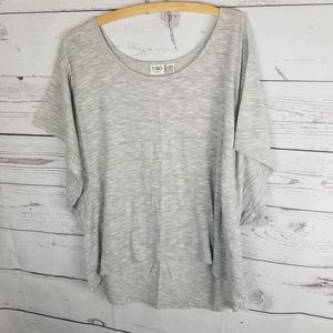 ⚡Cato High Low Blouse Gray Heathered Plus 22/24